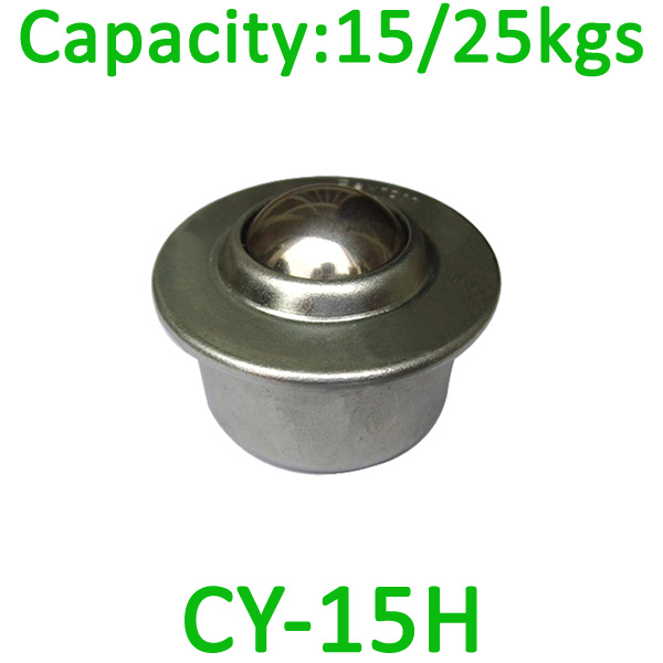 CY-15H ball transfer unit,15kg load capcity bearing transfer unit,steel ball unit transfer