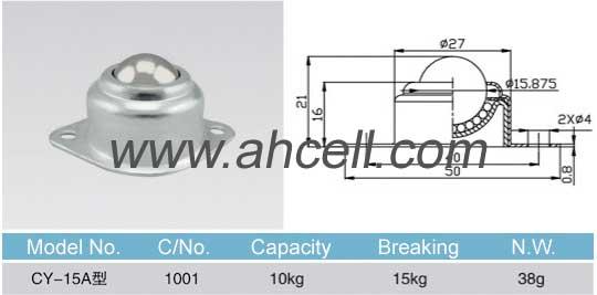 CY_15A ball transfer unit size