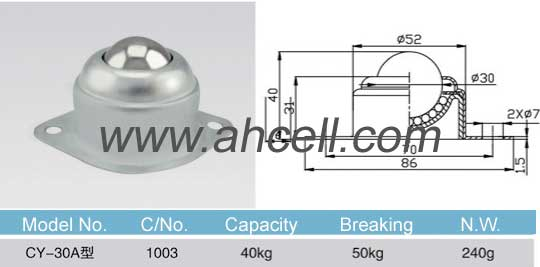 CY_30A ball transfer unit size