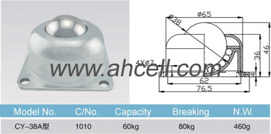 CY_38A ball transfer unit size