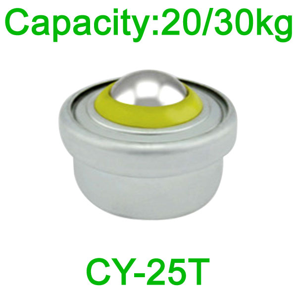 CY-25T ball transfer unit,20kg spring load transfer ball unit,spring ball bearing transfer unit