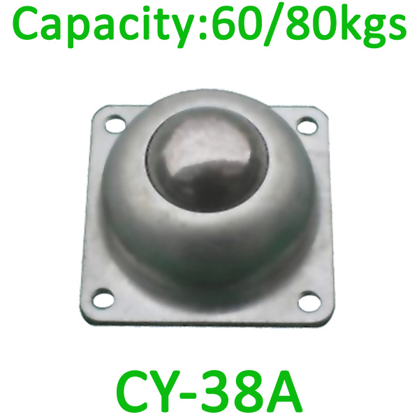 CY-38A ball transf unit,60kg load capacity ,38mm flange steel unit