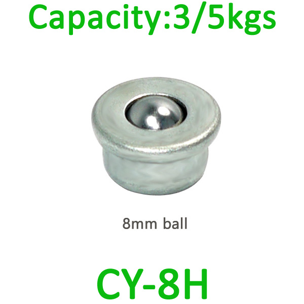 CY-8H ball transfer unit,mini transfer ball unit ,smallest steel transfer ball bearing